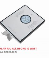 Lampu jalan PJU All in one 12 watt lampuallinone.com