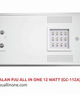 Lampu jalan PJU All in one 12 watt(GC-112A) lampuallinone.com