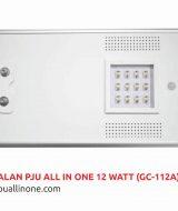 Lampu jalan PJU All in one 12 watt(GC-112A) lampuallinone.com