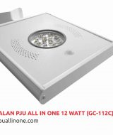 Lampu jalan PJU All in one 12 watt(GC-112C) lampuallinone.com