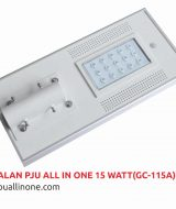 Lampu jalan PJU All in one 15 watt(GC-115A) lampuallinone.com