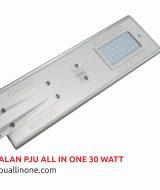 Lampu jalan PJU All in one 30 watt lampuallinone.com