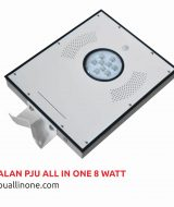 Lampu jalan PJU All in one 8 watt lampuallinone.com