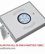 Lampu jalan PJU All in one 8 watt(GC-108C) lampuallinone.com