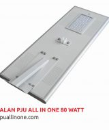 Lampu jalan PJU All in one 80 watt lampuallinone.com