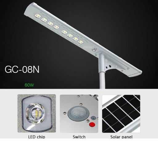 Jual lampu jalan pju solar sell arges 60 watt GC-08N 2