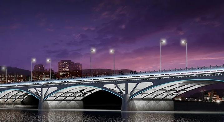 Penerapan lampu washer untuk jembatan