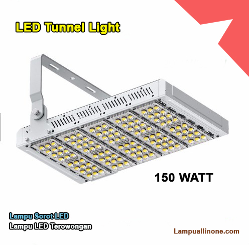 Led tunnel lampu sorot tunnel light Bridgelux 150 watt murah