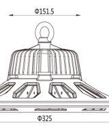 Ukuran Lampu LED UFO