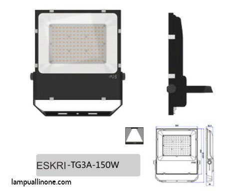 Jual lampu flood light philips 150w murah