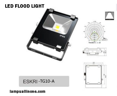 Jual lampu sorot led flood light murah 10watt