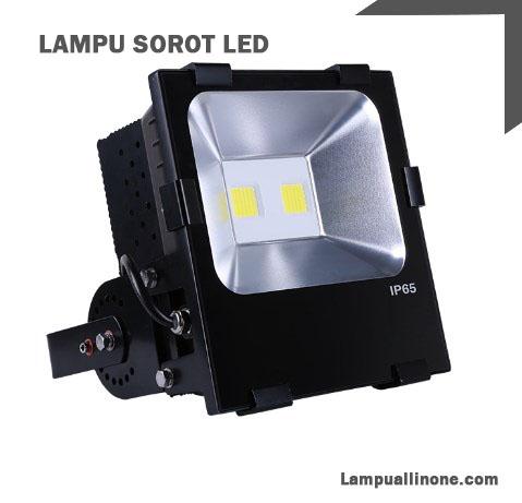 Tampak samping Lamppu Sorot 100watt