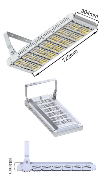Ukuran Lampu 210 watt Led sorot Light