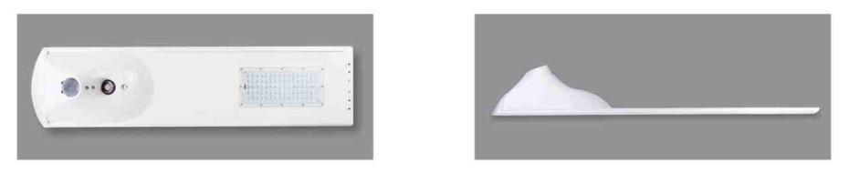 Desain lampu tipis dan profesional